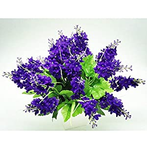 5PCS Artificial Fake Silk and Plastic Hyacinth Flower Wedding Bouquet Favor Bridal Aisle Vase Decor for Party,Home,Bookstore,Cafe Store,Cloth Shop (Purple) 24