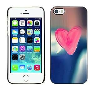 Carcasa Funda Prima Delgada SLIM Casa Case Bandera Cover Shell para Apple Iphone 5 / 5S / Business Style Pink Candy Heart