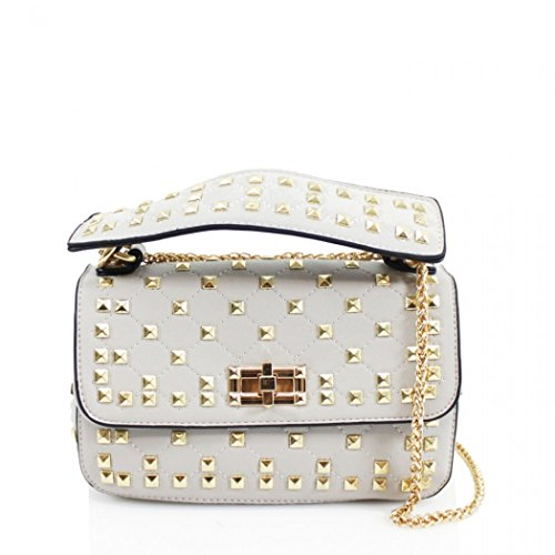 Women's Cross Shoulder Grey Studded Body Bag Cute 257 LeahWard Handbag Bags FdqxaCnqpw