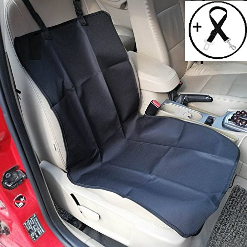 Economic Pet Seat Cover Front Car Mat for Small Medium Dogs Cats – Waterproof Anti-Scratch Seat Cover with Free Safty Seatbelt (Small, Black) Review