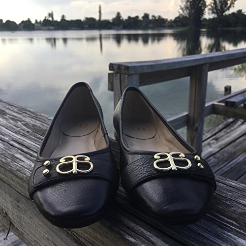 Andrew Stevens Womens Camilla Black Leather Ballet Flat Black Fmn0X0e8w