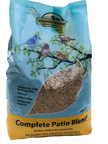 Country Blends Complete Patio Blend, 5 lbs Bag - Wild Bird Food Seed and Nut Mix ()