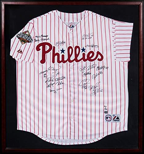 Beautiful 2008 Philadelphia Phillies World Series Champs Team Signed Jersey MLB