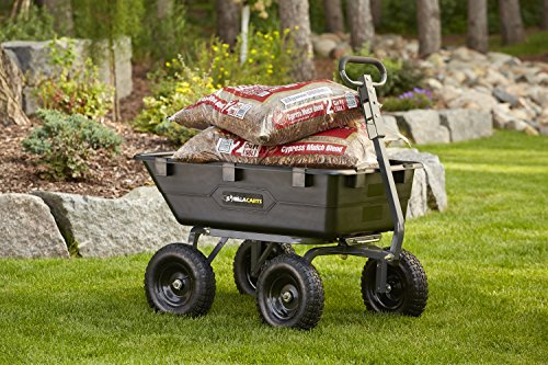 Gorilla Carts Gor6ps Heavy Duty Poly Yard Dump Cart With 2