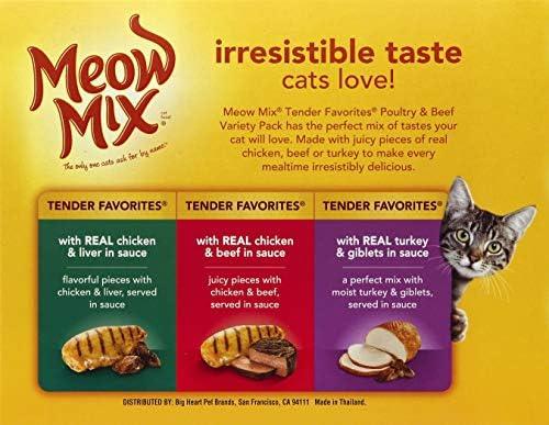 Meow Mix Tender Favorites Wet Cat Food 3