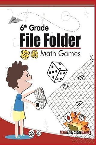 6th Grade File Folder Math Games (6th Grade Math Games) (Volume 1) - Volume Folder