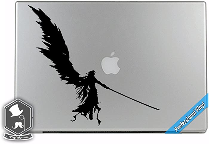 Final Fantasy VII Video Game Inspired Sephiroth Angel Wings Vinyl Decal Sticker for Apple MacBook Dell HP Alienware Asus Acer or Any Laptop Notebook PC Computer