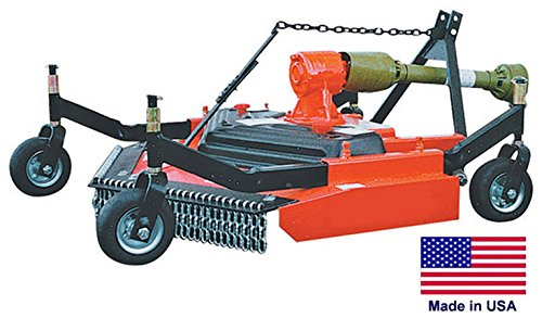Finish Cut Mower Commercial - 3 Point Hitch Mounted - Pto Driven - 48'' Cut by Streamline Industrial