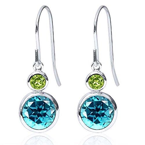 Peridot Topaz Jewelry Set (Carlo Bianca 925 Sterling Silver Earrings Set with Paraiba Topaz from Swarovski)