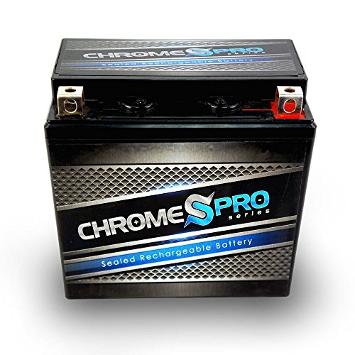 Chrome Battery CP-14L-BS High Performance AGM Maintenance Free Power Sports Battery