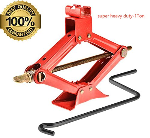 New Automotive Motorcycle Scissor Lift Jack 1 Ton Car Truck SUV ATV Jacks Lifting Red by Utheing