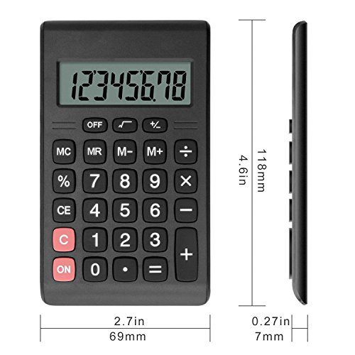 Calculator, Helect Compact Design Standard Function Handheld Portable Calculator - H1007 Photo #4