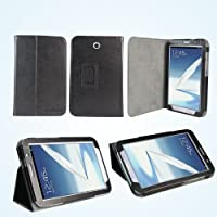 AceAbove Slim Leather Case for Samsung Galaxy Note 8 with Built-In Flip Stand and Smart Cover Function - Black (LCSSN801)