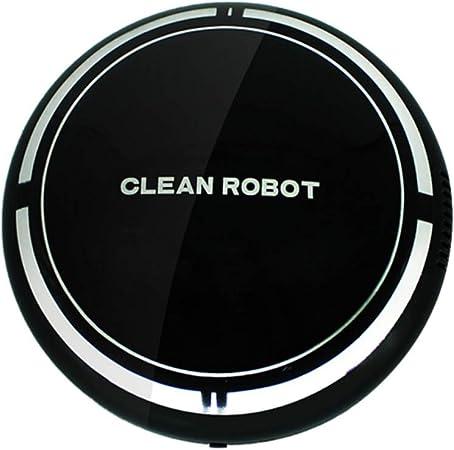 Robot aspirador, robot de barrido inteligente con carga USB, succión fuerte, diseño delgado, aspirador robótico inteligente súper silencioso, alfombras de pelo medio y pisos de madera dura: Amazon.es: Hogar