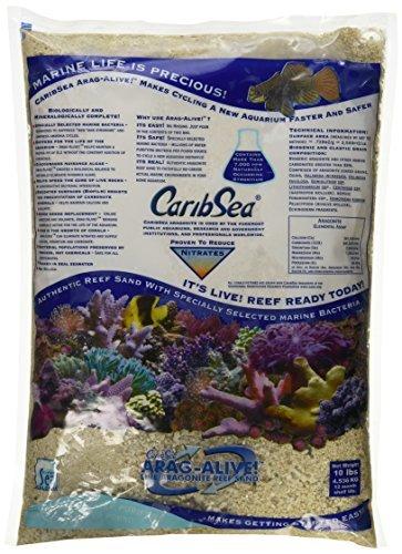 Carib Sea ACS01794 Aragamax Alive West Caribean Sand for Aquarium, 10-Pound, 4 Per Case by Carib Sea (Aragamax Sand)
