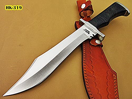 Poshland REG-HK-319, Handmade Hi Carbon Steel 15 inches Hunting Knife – Beautiful Two Tone Micarta Handle