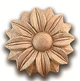 Acanthus Flower Rosette by Castlewood - Red Oak