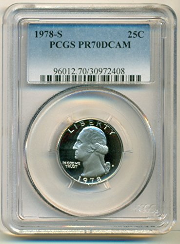 1978 S Washington Proof Quarter PR70 DCAM PCGS
