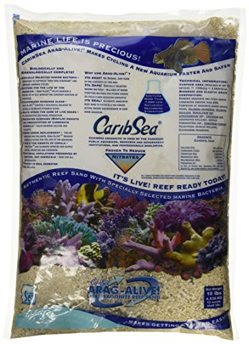 Carib Sea ACS01794 Aragamax Alive West Caribean Sand for Aquarium, 10Pound, 4 Per Case by Carib Sea