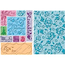 Cuttlebug 2000287 All-In-One Embossing Plates, Twinkle