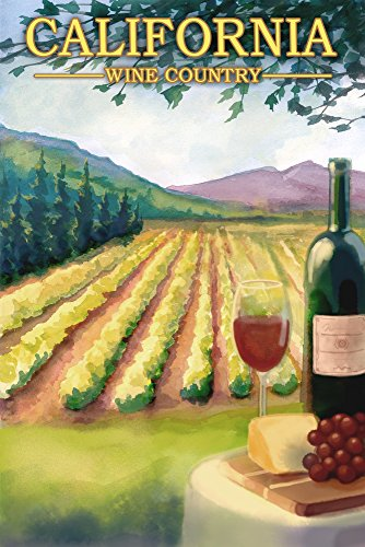 California - Wine Country (24x36 SIGNED Print Master Giclee Print w/ Certificate of Authenticity - Wall Decor Travel Poster)