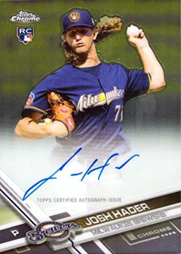 2017 Topps Chrome Baseball #RA-JHA Josh Hader Certified Autograph Rookie Card