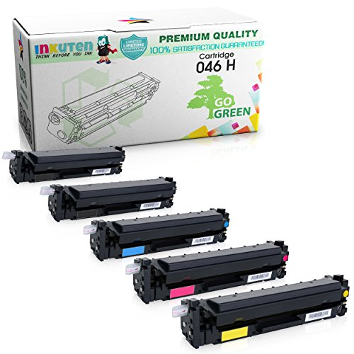 INKUTEN Compatible Toner Cartridge Replacement for Canon 046 High Yield (2 Black, 1 Cyan, 1 Magenta, 1 Yellow) 5 Pack For Canon ImageClass MF735Cdw, MF733Cdw, MF731Cdw Printer -  TMP-A2059