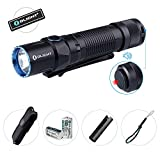 Bundle:Olight M2T 1200 Lumen Dual-Switch Tactical led Flashlight with Two CR123A Batteries,Holster,Lanyard,Pocket Clip and Patch