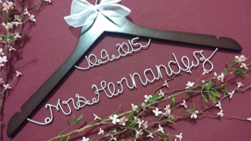 Personalized Wedding Hanger Bridesmaid Silver product image