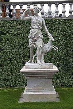 pompidu-living Diana, Diosa El Caza, Figuras Piedra, Figura de Jardín - Color Rojo Óxido: Amazon.es: Jardín