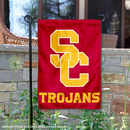 College Flags and Banners Co. USC Trojans SC Logo Garden - Trojans California Southern Flag