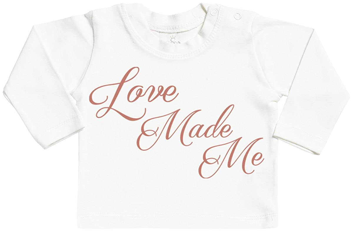 Love Made Me Long Sleeve Baby T-Shirt Top SR