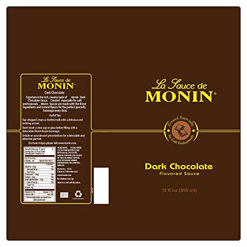 Monin - Gourmet Dark Chocolate Sauce, Velvety and Rich, Great for Desserts, Coffee, and Snacks, Gluten-Free, Vegan, Non-GMO (64 Ounce) by Monin (Image #7)