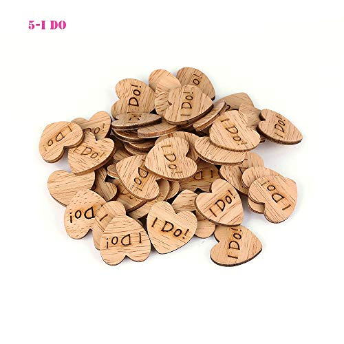 (Party Diy Decorations - 50pcs Lot Love Heart Shape Letter Carving Pattern Wood Table Scatter Wedding Decoration Fashion - Party Decorations Party Decorations Wedding Love Diana Wood Hear)