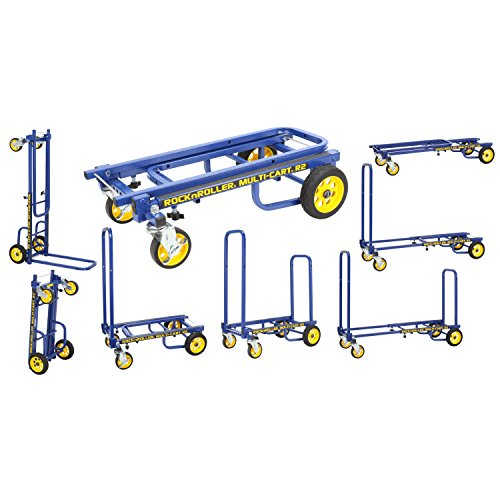 Rock-N-Roller R2RT-BL (Micro) 8-in-1 Folding Multi-Cart/Hand Truck/Dolly/Platform Cart/26