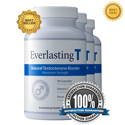 Everlasting T (3 Pack) - Testosterone Booster - Natural Testosterone Supplement - Proven Ingredients to Increase Testosterone Levels by NutriPharm