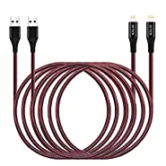 Long iPhone Charger Cable (2Pack 10FT) Extra Long Charging Cord 3M for Apple iPhone XR/X/8/8 Plus/7/7 Plus/6/6s/Plus/SE/5c/5s/5 iPad Air 2/Mini/Max 3Meter Charger Wire