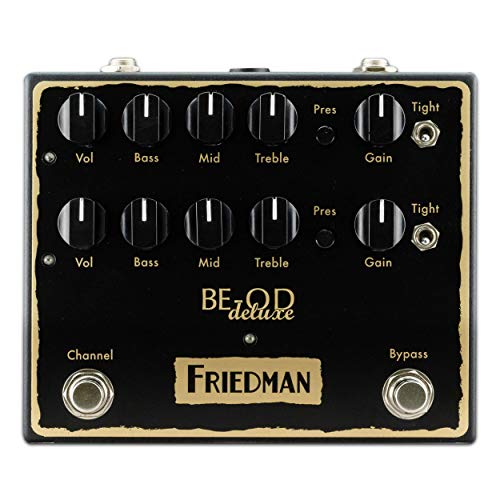 Friedman Amplification BE-OD Deluxe Dual Overdrive Guitar Effects Pedal (10 Best Overdrive Pedals)