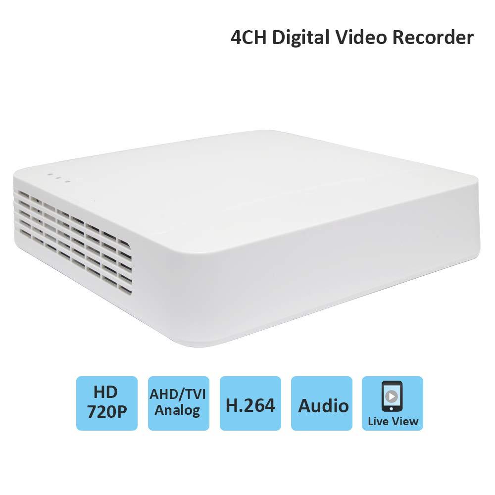 Hikvision DVR 4CH 720P HD Grabador de video digital Sistema de seguridad CCTV con acceso remoto y detección de movimiento para cámaras analógicas AHD HD-TVI