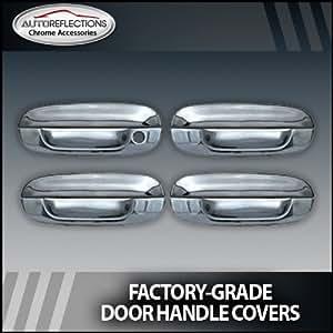 2002 2010 Chevy Trailblazer Chrome Door Handle Covers 4 Door W O Passenger Keyhole Chrome