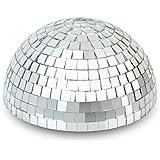 """8"""" Half Disco Mirror Ball Centerpiece - Silver"""