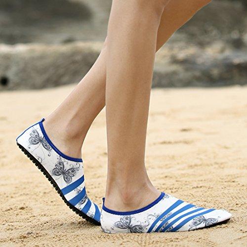 Z.suo Mannen Vrouwen En Kinderen Mutifunctional Barefoot Schoenen Sneldrogende Water Schoenen Lichtgewicht Aqua Sokken Voor Strand Zwembad Surf Yoga Oefening Wit