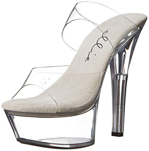 Ellie Shoes Women's 601 Coco Platform Sandal, Clear, 8 M US -