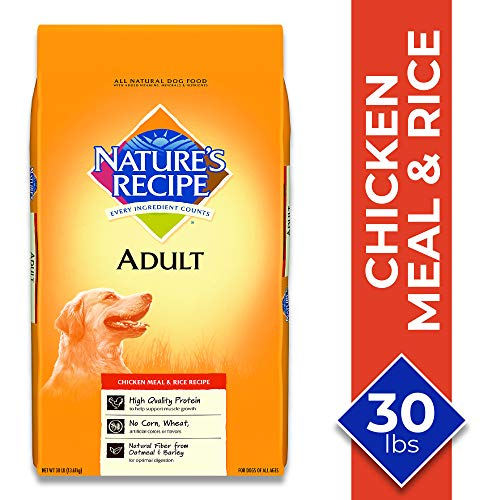 Nature's Recipe Chicken Meal & Rice Recipe Dry Dog Food for Adult...
