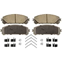 Wagner ThermoQuiet QC1324 Ceramic Disc Pad Set With Installation Hardware, Front