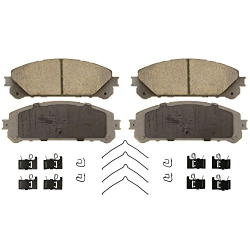 Toyota Highlander Brakes - Wagner ThermoQuiet QC1324 Ceramic Disc Pad Set With Installation Hardware, Front