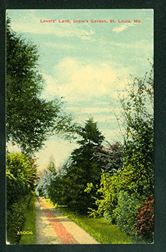 Shaws Louis Garden - Lovers Lane at Shaw's Garden St. Louis Missouri Park Scene Old Postcard