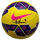 Mia Hamm USA Women's Soccer Signed Yellow Soccer Ball PSA