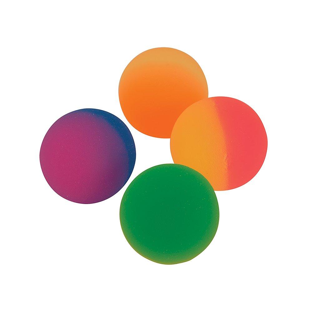 Unique Party 84710 - Jouets pour Pochette Cadeau - Balles Rebondissantes Bicolores - Paquet de 8