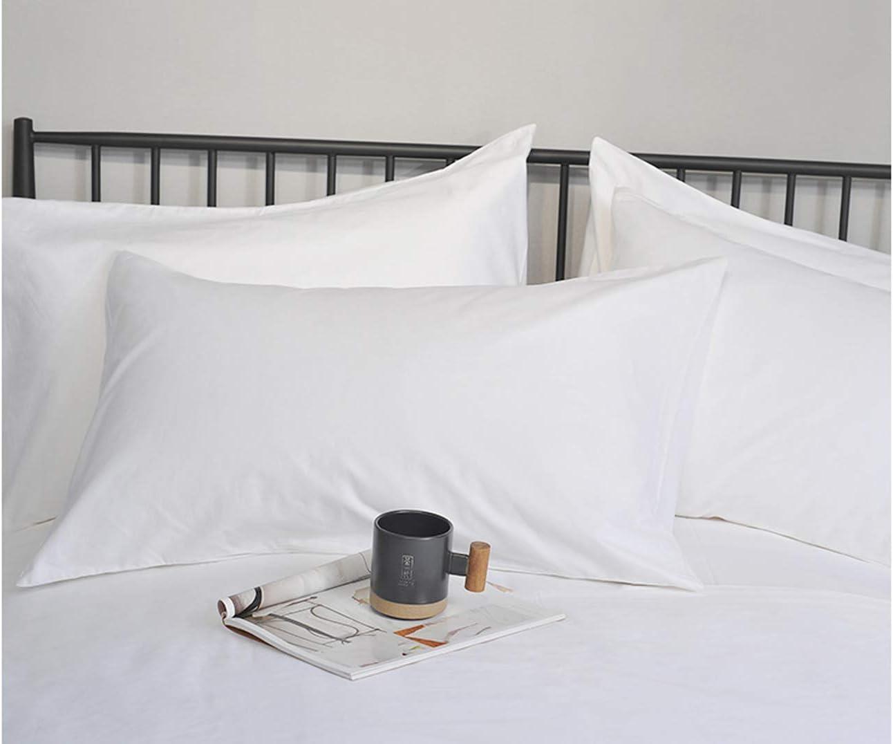 suaves Blanco 50 cm x 75 cm algod/ón 50 x 75 cm est/ándar BESTELLIE 2 unidades acogedoras y transpirables Fundas de almohada de algod/ón egipcio de 300 hilos